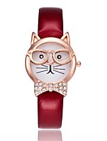 cheap -Women's Wrist Watch Chinese Hollow Engraving / Cute / Casual Watch PU Band Bangle / Fashion White / Red / Brown