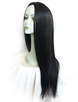 cheap -Synthetic Wig / Cosplay & Costume Wigs Straight Layered Haircut Synthetic Hair Party / Classic / New Arrival Black Wig Women's Long Capless / Natural Hairline