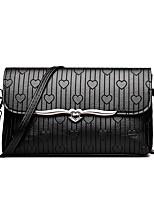 cheap -Women's Bags PU(Polyurethane) Shoulder Bag Zipper Black / Wine