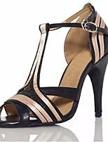 economico -Per donna Scarpe per balli latini PU (Poliuretano) Tacchi Tacco alto sottile Scarpe da ballo Nero / Prestazioni / Di pelle / Da allenamento