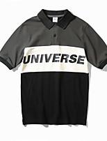 cheap -Men's Polo - Color Block Shirt Collar / Short Sleeve