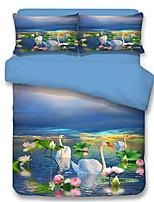 cheap -Duvet Cover Sets Floral / Contemporary Poly / Cotton Jacquard 3 Piece
