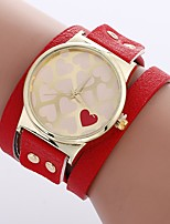 cheap -Xu™ Women's Bracelet Watch / Wrist Watch Chinese Creative / Casual Watch / Adorable PU Band Heart shape / Fashion Black / White / Red