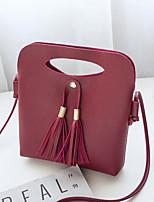 cheap -Women's Bags PU(Polyurethane) Shoulder Bag Tassel Blushing Pink / Gray / Brown