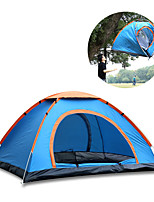 cheap -4 person Family Tent Single Pop Up Camping Tent Outdoor Lightweight, Rain-Proof for Camping / Hiking / Caving 1000-1500 mm Oxford Cloth, Silver Tape 200*200*135 cm