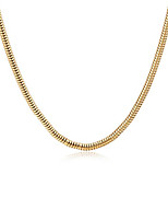 cheap -Men's Chain Necklace  -  Gold Plated Snake European, Fashion, Statement Gold 61 cm Necklace 1pc For Daily, Street