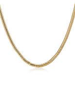 abordables -Homme Colliers chaînes - Plaqué or Serpent Large, Européen, Mode Or 61 cm Colliers Tendance 1pc Pour Quotidien, Plein Air