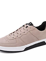 cheap -Men's Pigskin / PU(Polyurethane) Spring / Fall Comfort Sneakers Running Shoes Gray / Red / Khaki