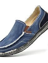 cheap -Men's Shoes Denim Summer Comfort Loafers & Slip-Ons Dark Blue / Gray / Khaki