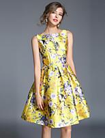 preiswerte -Damen Retro / Street Schick A-Linie Kleid - Druck, Blumen Mini