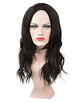 cheap -Synthetic Wig Wavy Middle Part Synthetic Hair New / Middle Part Black Wig Women's Mid Length Capless / Yes