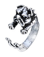 cheap -Men's Open Ring - Silver Plated, Gold Plated Dog Animals, Vintage, Fashion Silver / Bronze For Halloween / Carnival