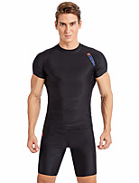 cheap -SABOLAY Men's Dive Skin Suit Quick Dry, Breathable Polyester / Spandex / Chinlon Short Sleeve Swimwear Beach Wear Swimwear Swimming / Outdoor Exercise / Watersports