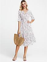 cheap -TS - Miss French Women's Street chic Slim Sheath Dress - Floral V Neck / V Neck / Floral / Slim