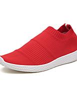 Недорогие -Муж. обувь Тюль Лето Удобная обувь Мокасины и Свитер Черный / Серый / Красный