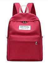 cheap -Unisex Bags Canvas School Bag Zipper Purple / Coffee / Khaki
