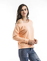 cheap -women's t-shirt - solid colored one shoulder