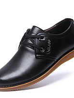 cheap -Men's Patent Leather Spring Casual / Comfort Oxfords Black / Brown / Party & Evening