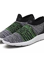 cheap -Men's Elastic Fabric Fall Comfort Sneakers Orange / Dark Grey / Green