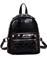 cheap -Women's Bags PU(Polyurethane) Backpack Rivet / Zipper Black / Silver / Red