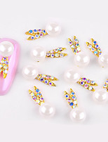 cheap -10 pcs Nail Jewelry Fashionable Design / Adorable nail art Manicure Pedicure Diamond / Rhinestone Decorated Case
