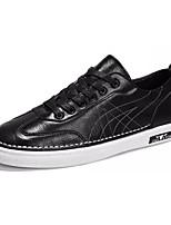 Недорогие -Муж. Полиуретан Лето Удобная обувь Кеды Белый / Черный / Коричневый