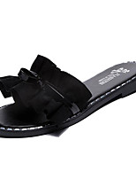 cheap -Women's Shoes PU(Polyurethane) Summer Slingback Slippers & Flip-Flops Flat Heel Black / Pink