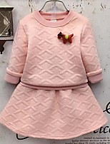 cheap -Kids / Toddler Girls' Solid Colored Long Sleeve Clothing Set