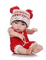 economico -NPKCOLLECTION Bambole Reborn Bambine 12 pollice Silicone per tutto il corpo / Vinile - Occhi marroni di impianto artificiale Per bambino Da ragazza Regalo