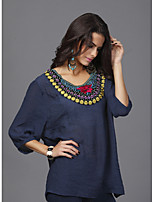 cheap -women's t-shirt - tribal round neck