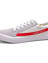 cheap -Men's Canvas / PU(Polyurethane) Summer Comfort Sneakers Color Block Red / Black / White / White / Green