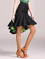abordables -Danse latine Tutus & Jupes Femme Entraînement / Utilisation Soie Glacée Ruché / Froncée Taille haute Jupes