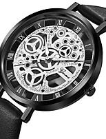 Недорогие -Geneva Жен. Нарядные часы / Наручные часы Китайский С гравировкой / Повседневные часы / Cool Кожа Группа На каждый день / Мода Черный /