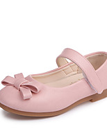 cheap -Girls' Shoes PU(Polyurethane) Spring & Summer Comfort / Flower Girl Shoes Flats Walking Shoes Bowknot / Magic Tape for Teenager Black / Beige / Pink