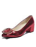 abordables -Femme Chaussures Polyuréthane Eté Escarpin Basique Chaussures à Talons Marche Talon Bottier Bout pointu Noir / Rouge / Champagne