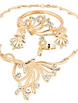 cheap -Women's Jewelry Set - Gold Plated Ethnic, Fashion, Oversized Include Bracelet Bangles / Hoop Earrings / Ring Gold For Wedding / Evening Party / Bridal Jewelry Sets