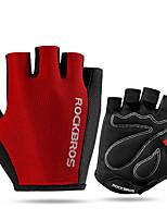 abordables -ROCKBROS Demi-doigt Unisexe Gants de moto Cuir Léger / Séchage rapide / Respirable