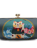 cheap -Women's Bags Silk Evening Bag Buttons / Pattern / Print Blue