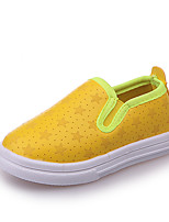 cheap -Girls' Shoes PU Spring & Summer Comfort Loafers & Slip-Ons for Yellow / Silver / Pink