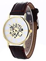 Недорогие -Xu™ Жен. Нарядные часы / Наручные часы Китайский Творчество / Повседневные часы / Крупный циферблат PU Группа На каждый день / Мода Черный / Коричневый / Один год
