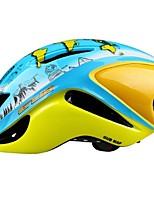 abordables -Adultes Casque de vélo / BMX Casque 12 Aération Résistant aux impacts, Réglable ESP+PC Des sports Cyclisme / Vélo - Bleu + jaune. Unisexe