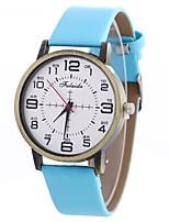 baratos -Xu™ Mulheres Relógio Elegante / Relógio de Pulso Chinês Criativo / Relógio Casual / Mostrador Grande PU Banda Casual / Fashion Preta / Branco / Azul / Um ano