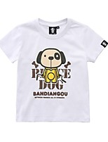 cheap -Kids / Toddler Boys' Dog Solid Colored / Print Short Sleeve Tee