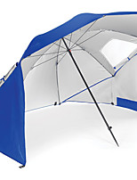 cheap -Umbrella / Sun Umbrella / Screen Tent / Beach Tent Single Camping Tent Outdoor UV resistant, SPF35 for Beach / Camping / Hiking / Caving 1500-2000 mm Oxford Cloth 240*240*200 cm