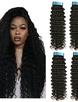 cheap -Peruvian Hair Curly Natural Color Hair Weaves / Human Hair Extensions 4 Bundles 8-28 inch Human Hair Weaves Capless Best Quality / New Arrival / For Black Women Natural Black Human Hair Extensions