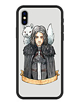 economico -Custodia Per Apple iPhone X / iPhone 8 Plus Fantasia / disegno Per retro Animali / Cartoni animati Resistente Acrilico per iPhone X / iPhone 8 Plus / iPhone 8