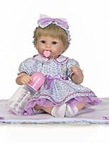 economico -NPKCOLLECTION Bambole Reborn Bambine 18 pollice Occhi azzurri di impianto artificiale Per bambino Da ragazza Regalo