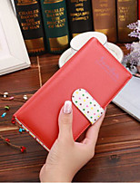 cheap -Women's Bags Synthetic Wallet Buttons / Zipper Red / Blushing Pink / Yellow