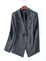 cheap -women's work blazer-solid colored v neck