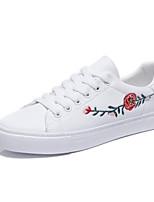 economico -Per donna Scarpe PU (Poliuretano) Estate Comoda Sneakers Piatto Punta chiusa Bianco / Nero